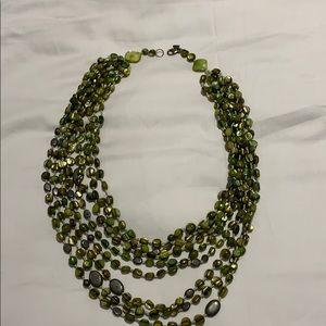 Green beaded silpada necklace